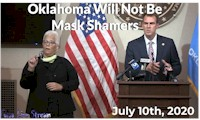 Gov. Stitt Speech On July 10th, 2020 About No Mask Shaming