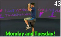 Monday or Tuesday Workout